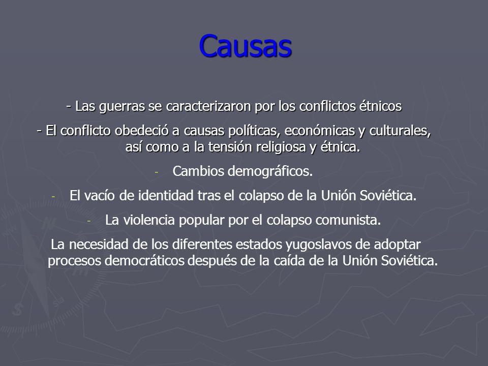 Causas - Las guerras se caracterizaron por los conflictos étnicos