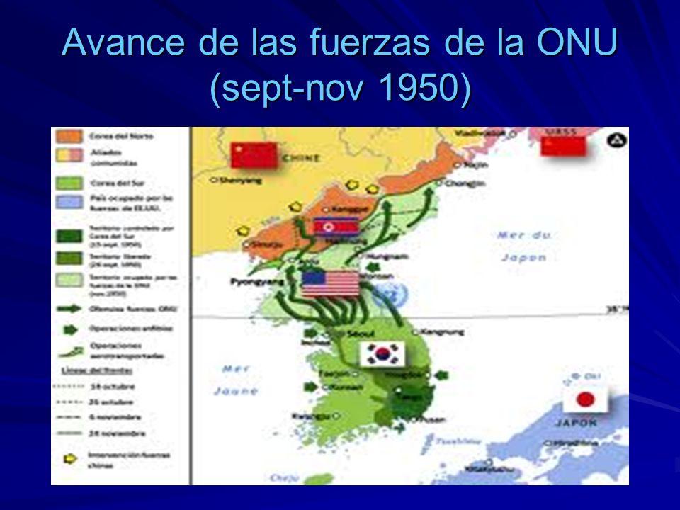 Avance de las fuerzas de la ONU (sept-nov 1950)