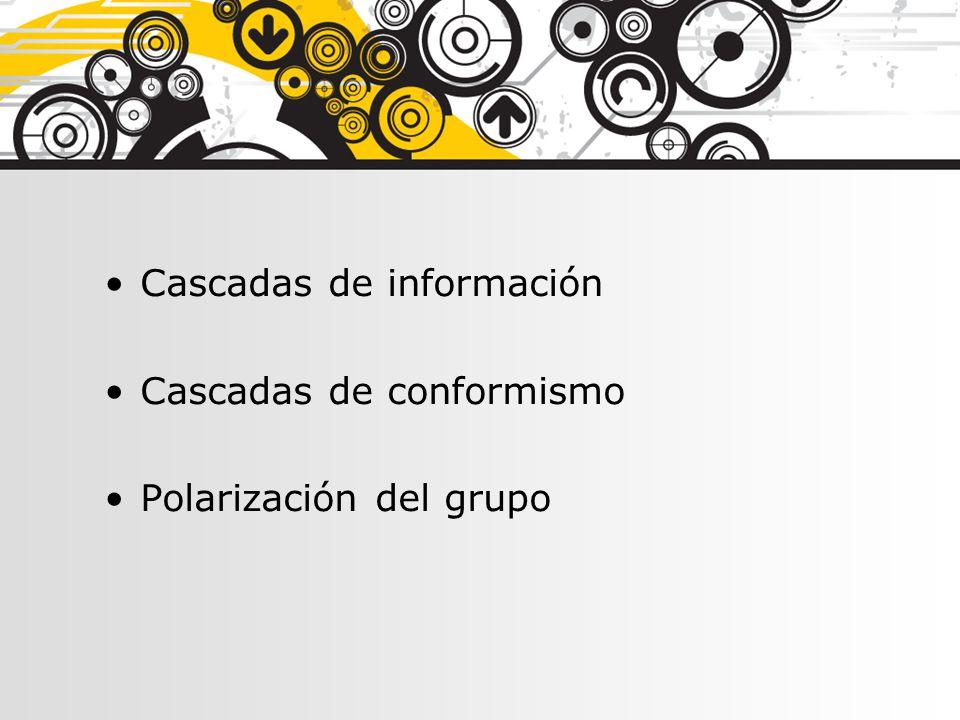 Cascadas de información