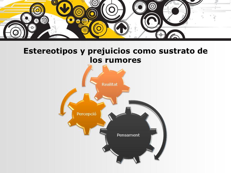 Estereotipos y prejuicios como sustrato de los rumores