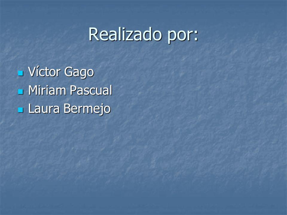 Realizado por: Víctor Gago Miriam Pascual Laura Bermejo