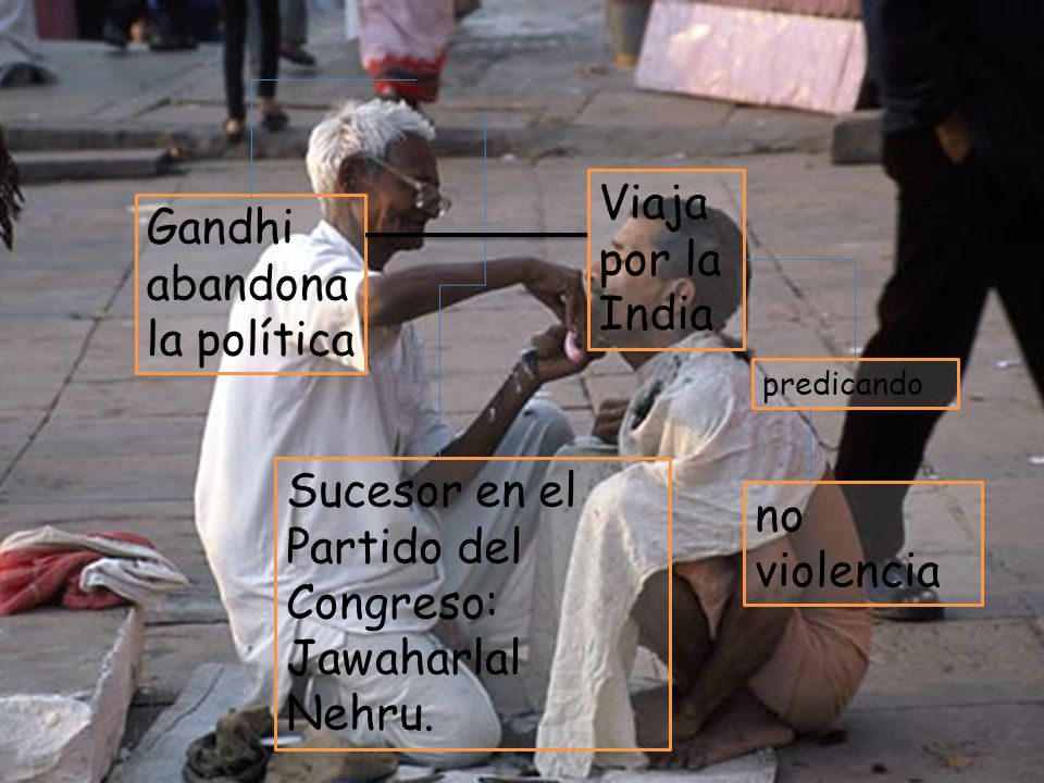 Jawaharlal Nehru 1934 Viaja por la India Gandhi abandona la política
