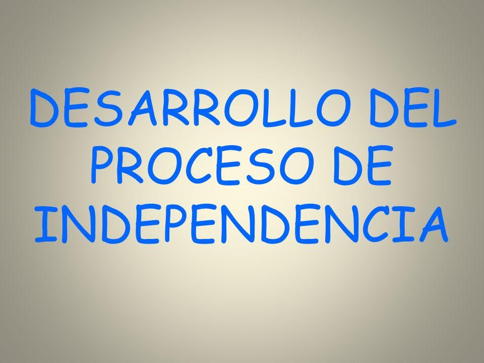 DESARROLLO DEL PROCESO DE INDEPENDENCIA
