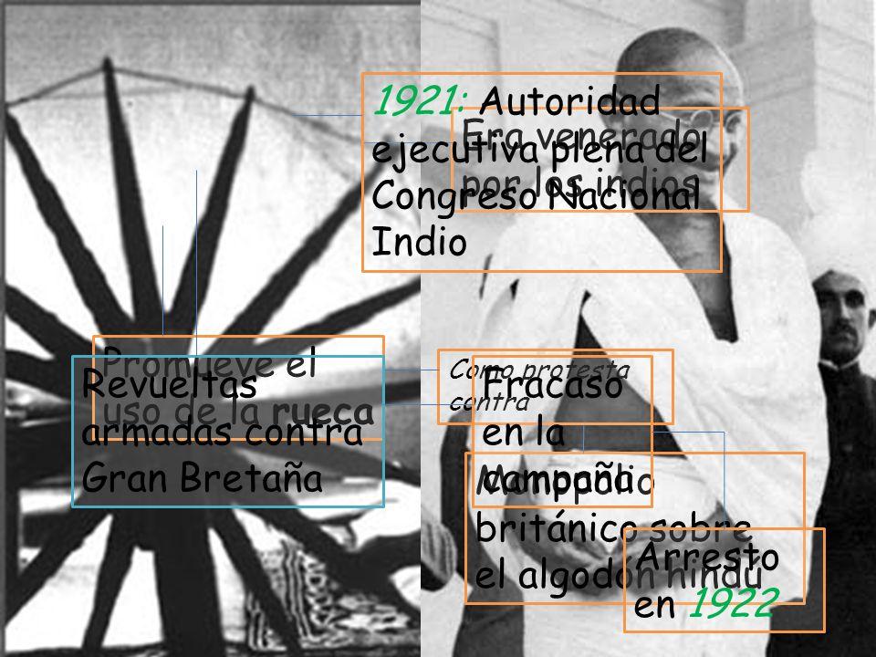 1921: Autoridad ejecutiva plena del Congreso Nacional Indio