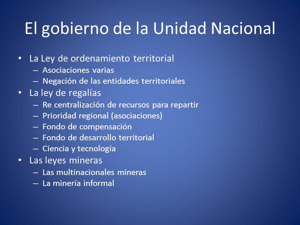 El gobierno de la Unidad Nacional