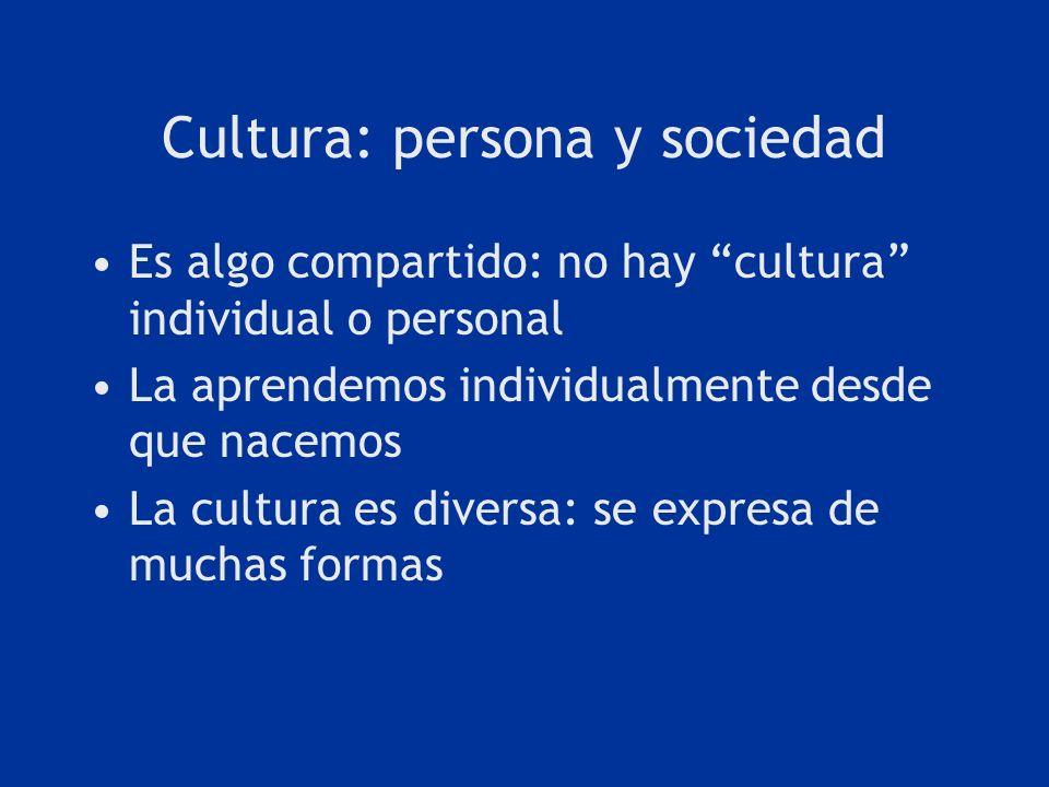 Cultura: persona y sociedad