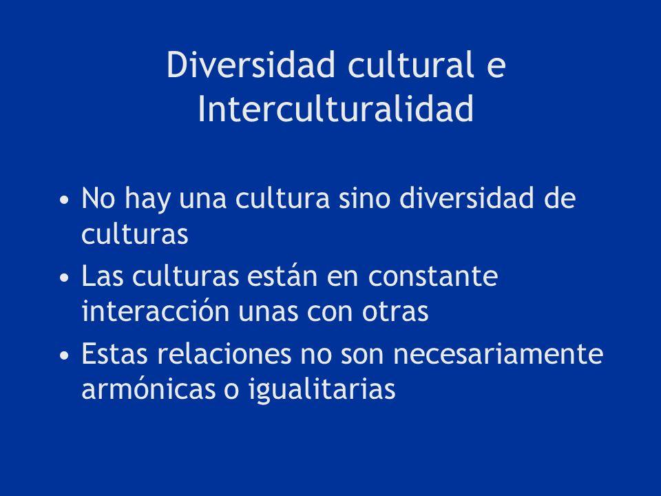 Diversidad cultural e Interculturalidad