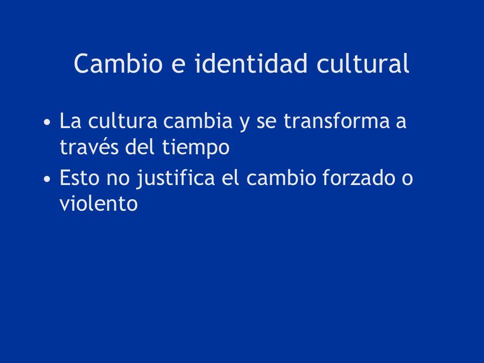 Cambio e identidad cultural