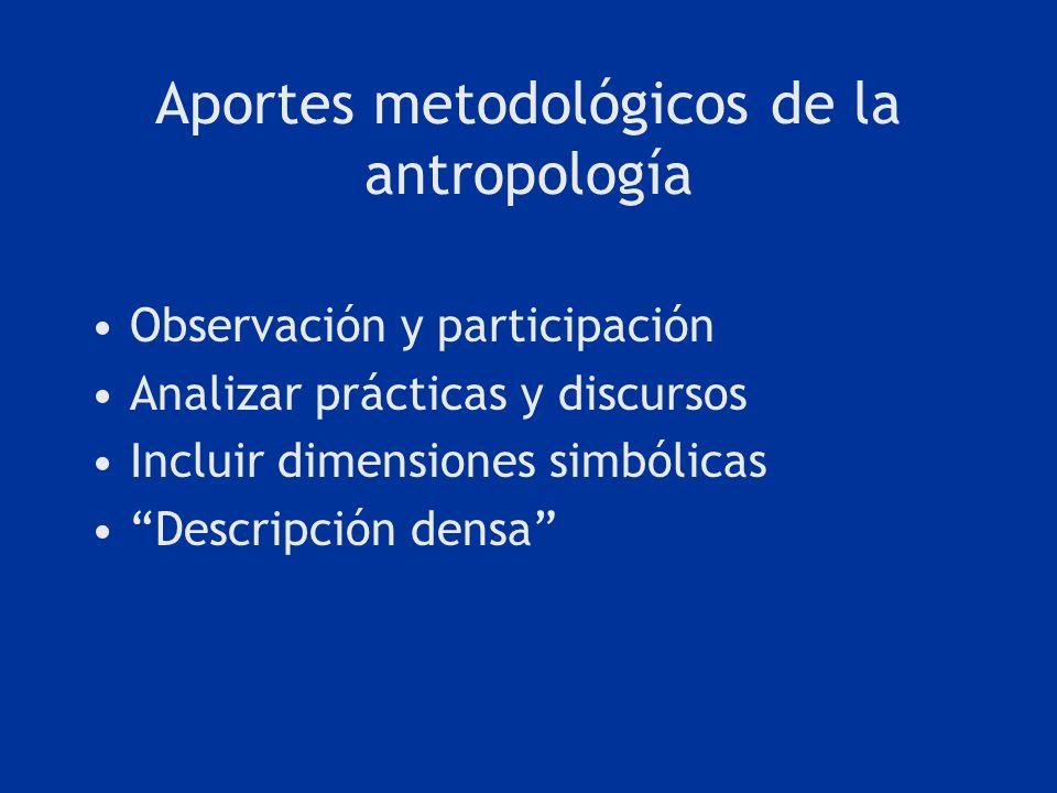 Aportes metodológicos de la antropología