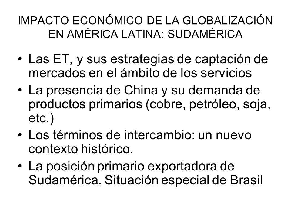 IMPACTO ECONÓMICO DE LA GLOBALIZACIÓN EN AMÉRICA LATINA: SUDAMÉRICA