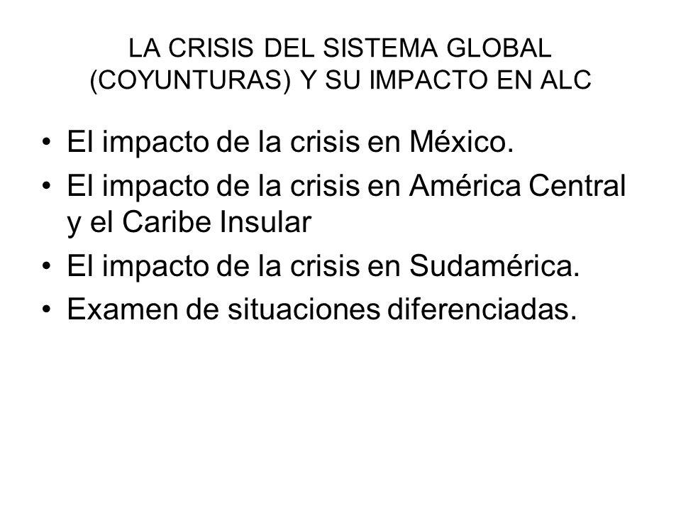 LA CRISIS DEL SISTEMA GLOBAL (COYUNTURAS) Y SU IMPACTO EN ALC