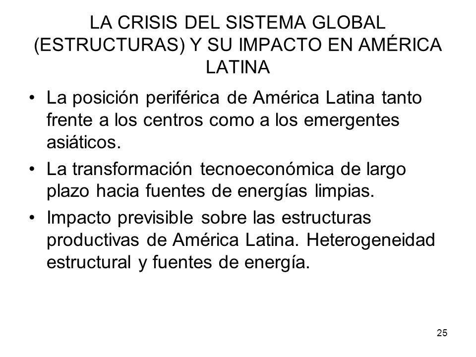 LA CRISIS DEL SISTEMA GLOBAL (ESTRUCTURAS) Y SU IMPACTO EN AMÉRICA LATINA