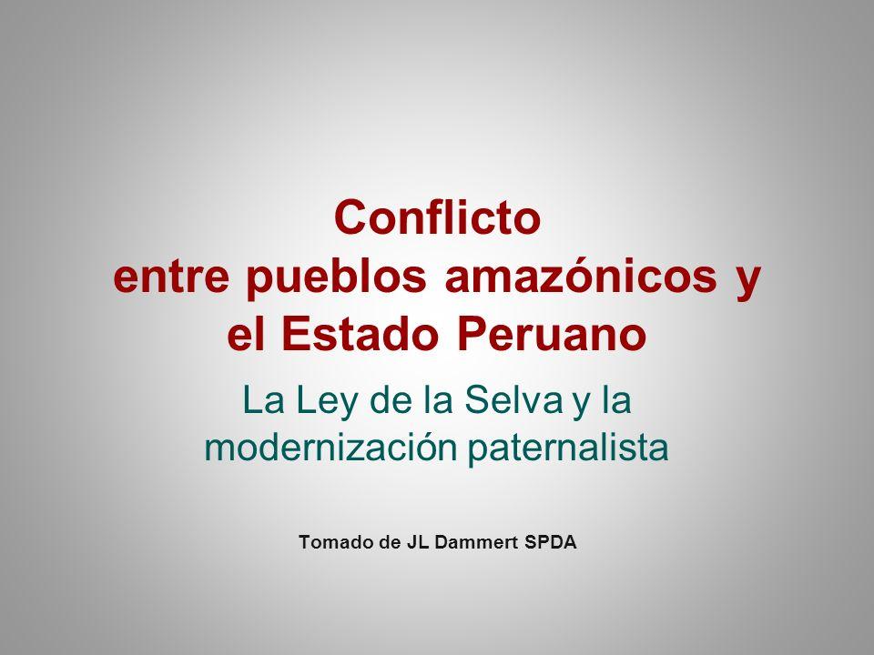 Conflicto entre pueblos amazónicos y el Estado Peruano