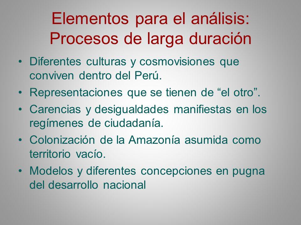 Elementos para el análisis: Procesos de larga duración
