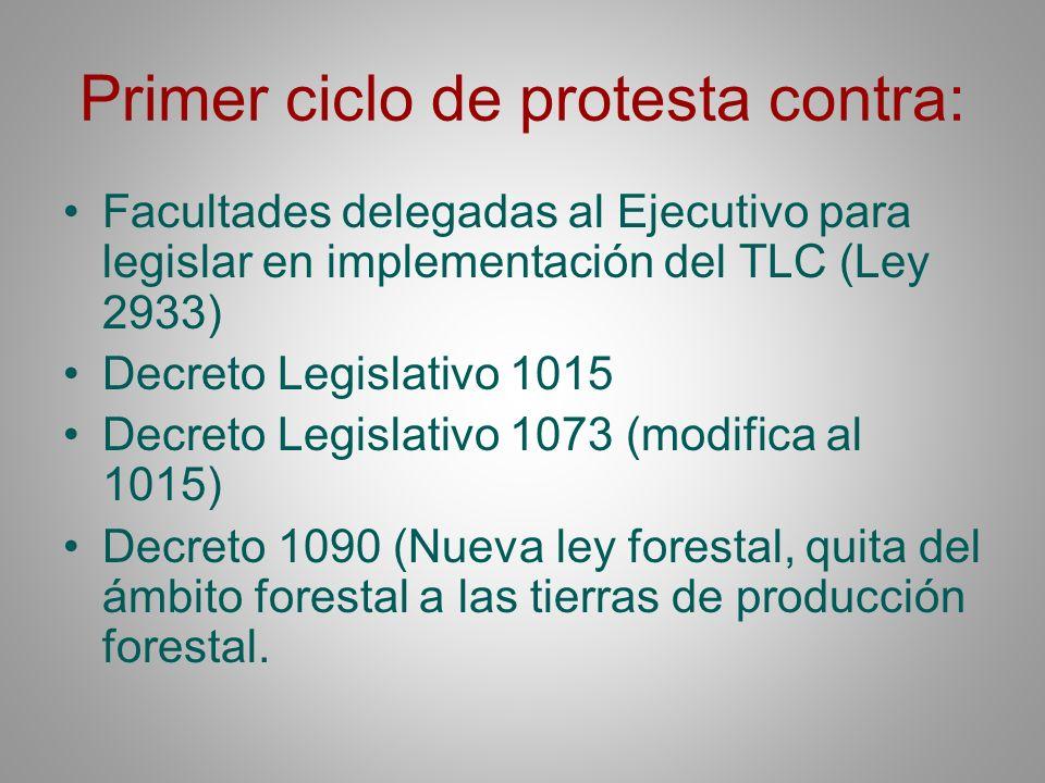 Primer ciclo de protesta contra: