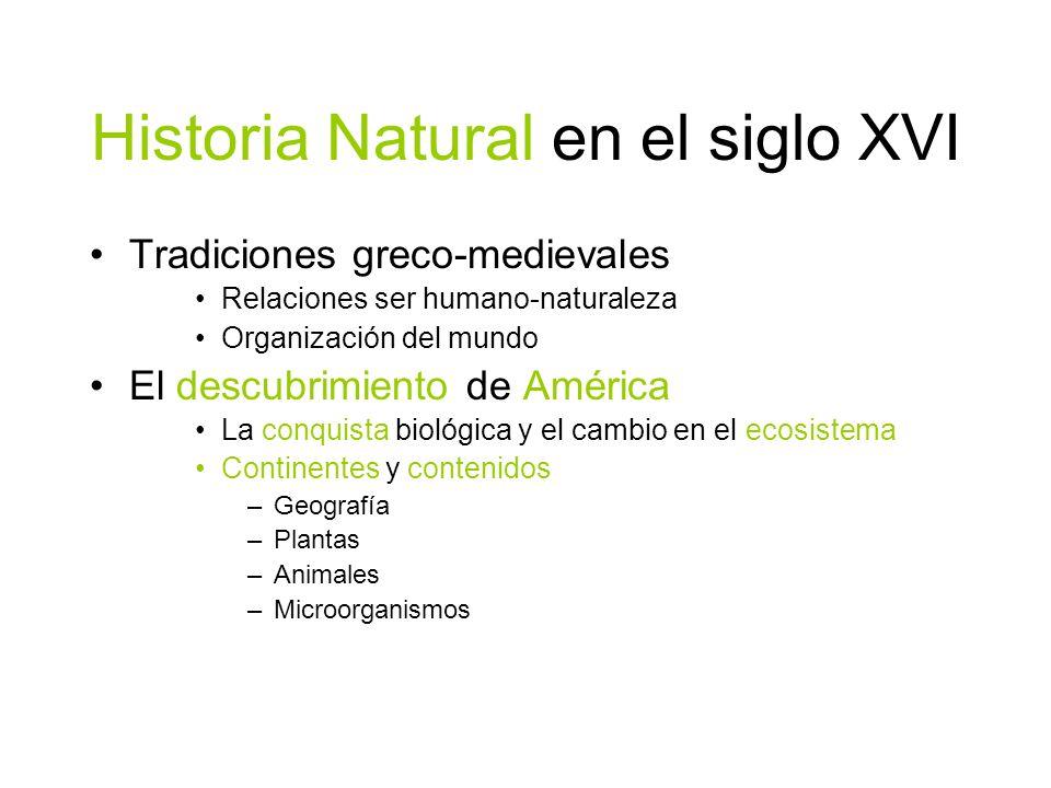 Historia Natural en el siglo XVI