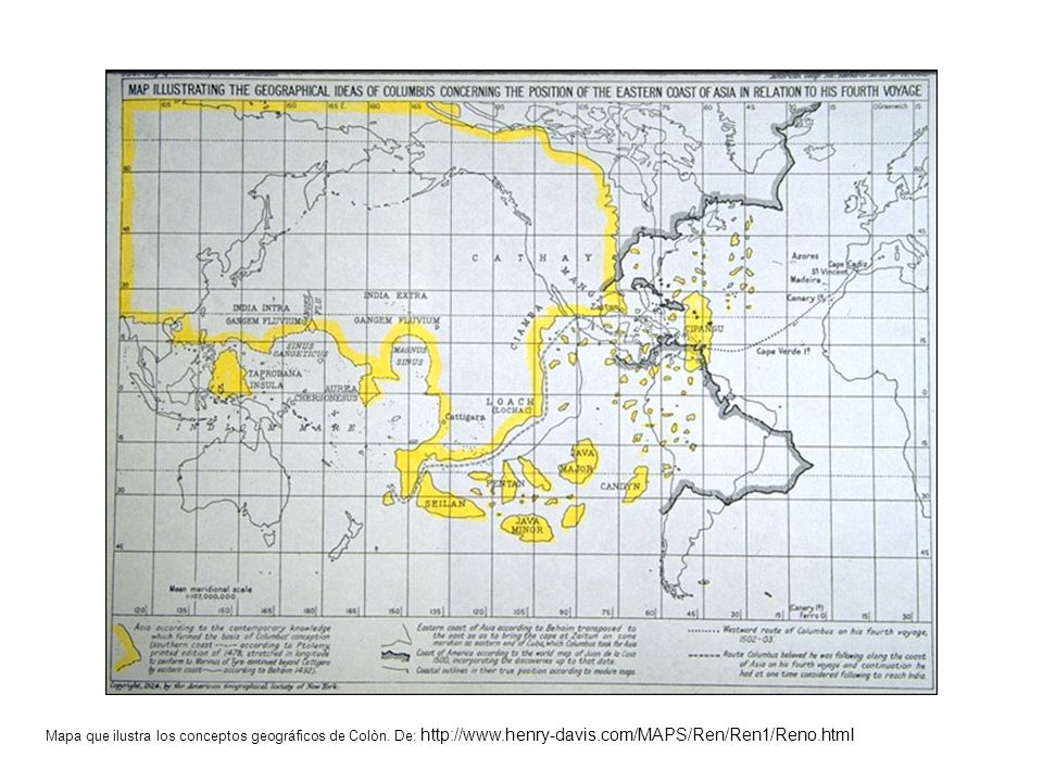 Mapa que ilustra los conceptos geográficos de Colòn. De: http://www