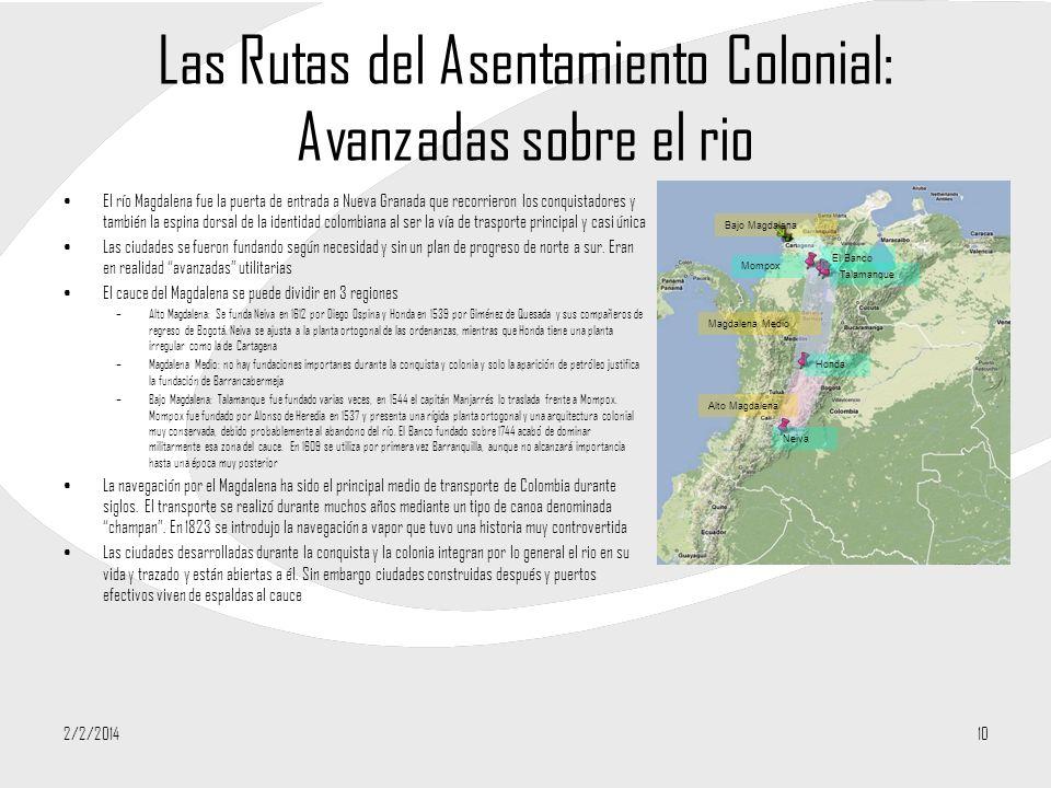 Las Rutas del Asentamiento Colonial: Avanzadas sobre el rio