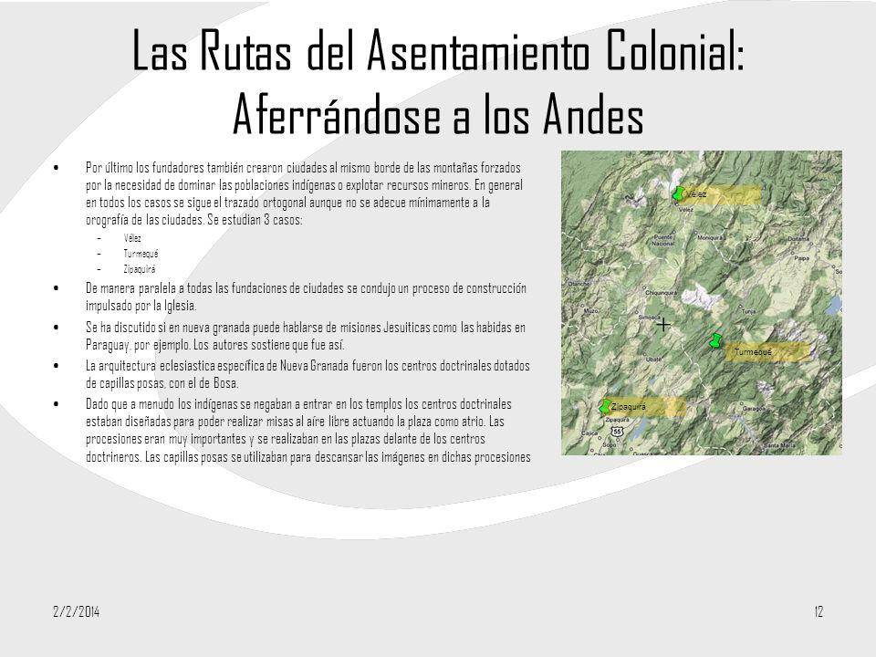 Las Rutas del Asentamiento Colonial: Aferrándose a los Andes