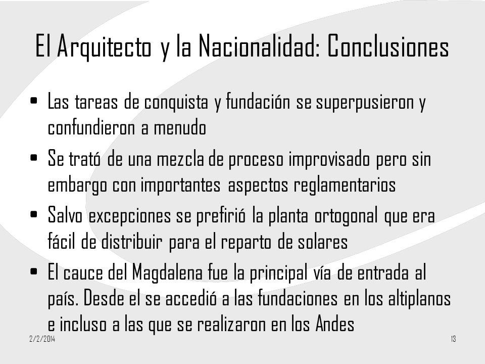 El Arquitecto y la Nacionalidad: Conclusiones