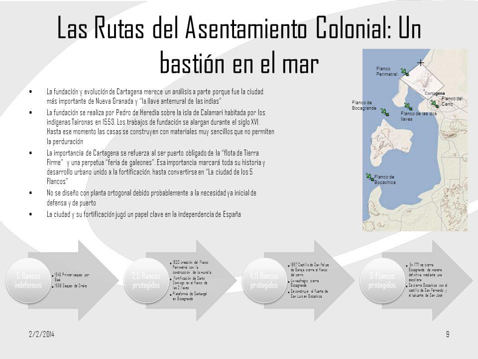Las Rutas del Asentamiento Colonial: Un bastión en el mar