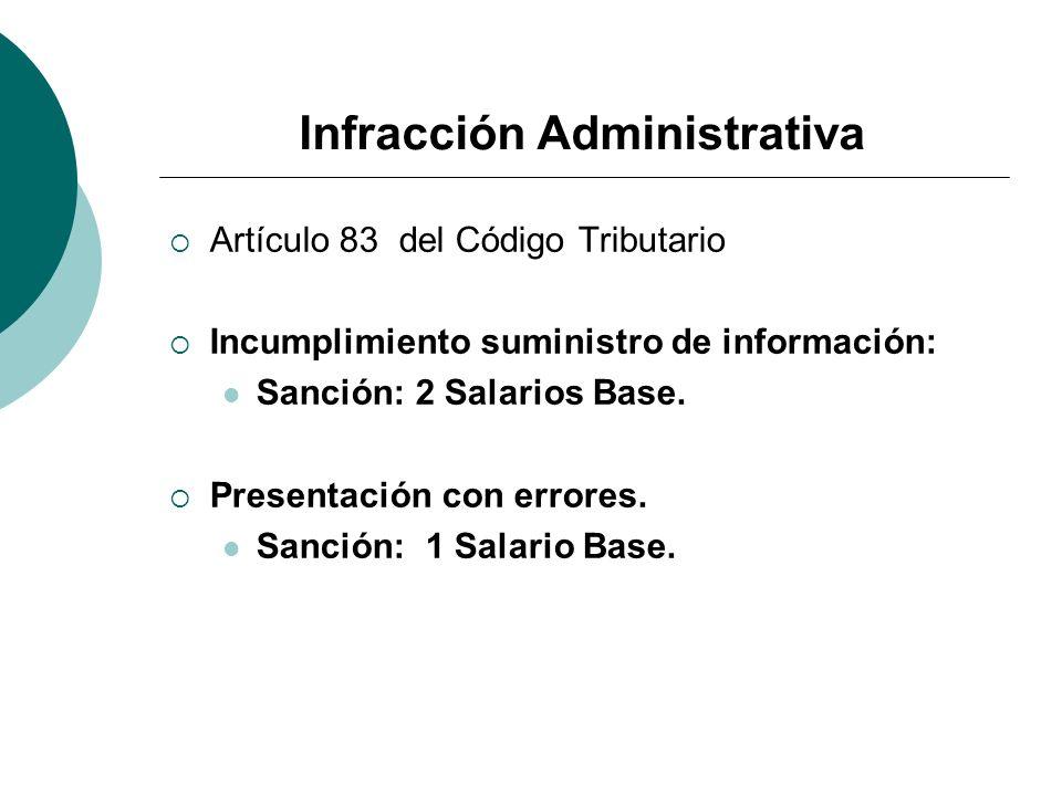 Infracción Administrativa