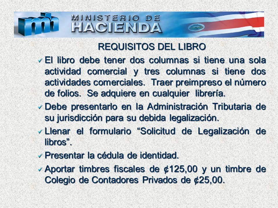 REQUISITOS DEL LIBRO