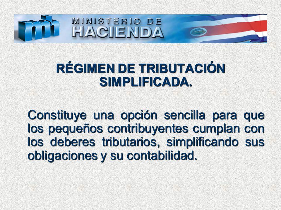 RÉGIMEN DE TRIBUTACIÓN SIMPLIFICADA.