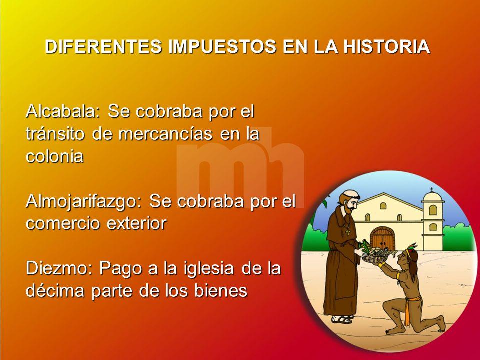 DIFERENTES IMPUESTOS EN LA HISTORIA