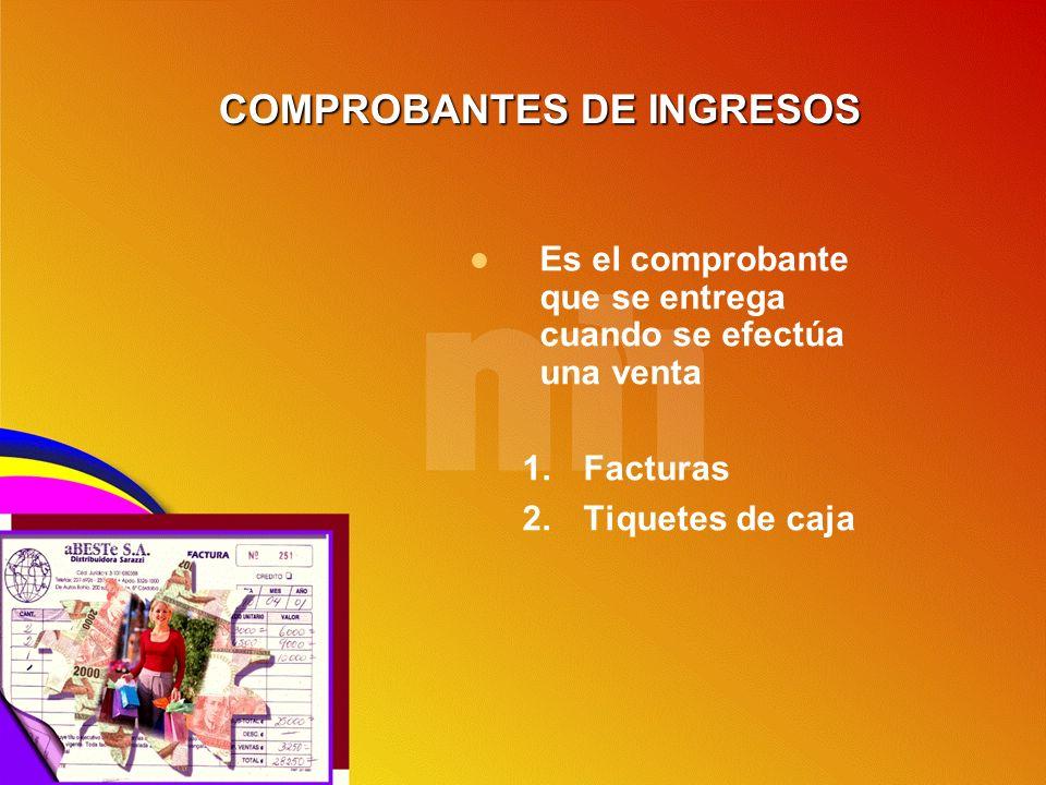 COMPROBANTES DE INGRESOS