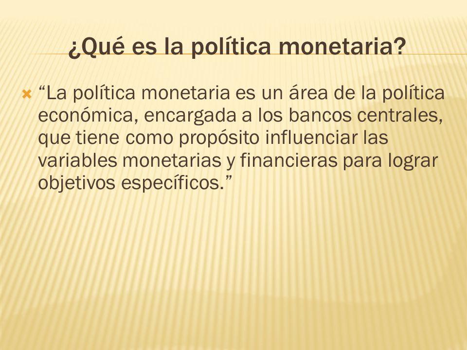 ¿Qué es la política monetaria