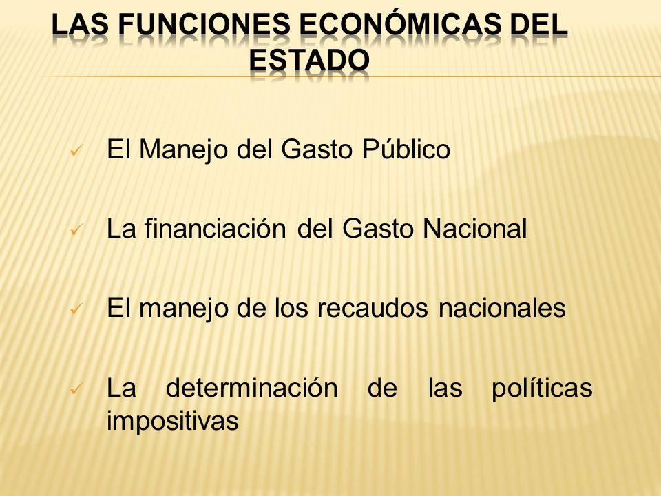 las funciones económicas del Estado