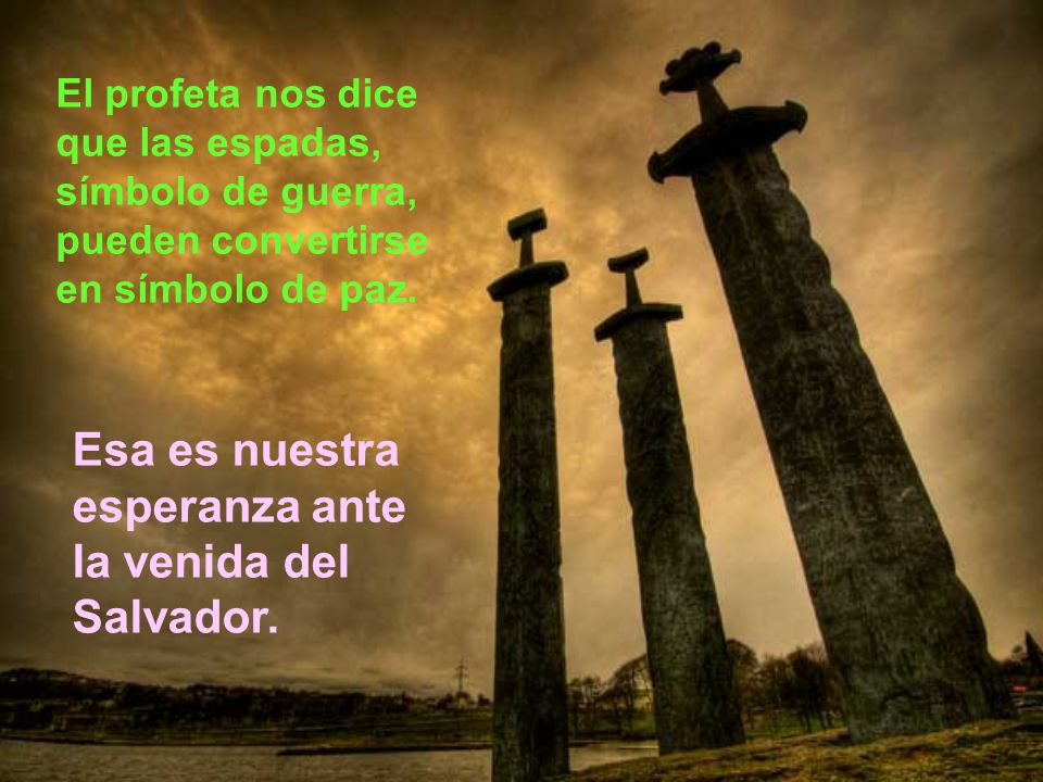 Esa es nuestra esperanza ante la venida del Salvador.