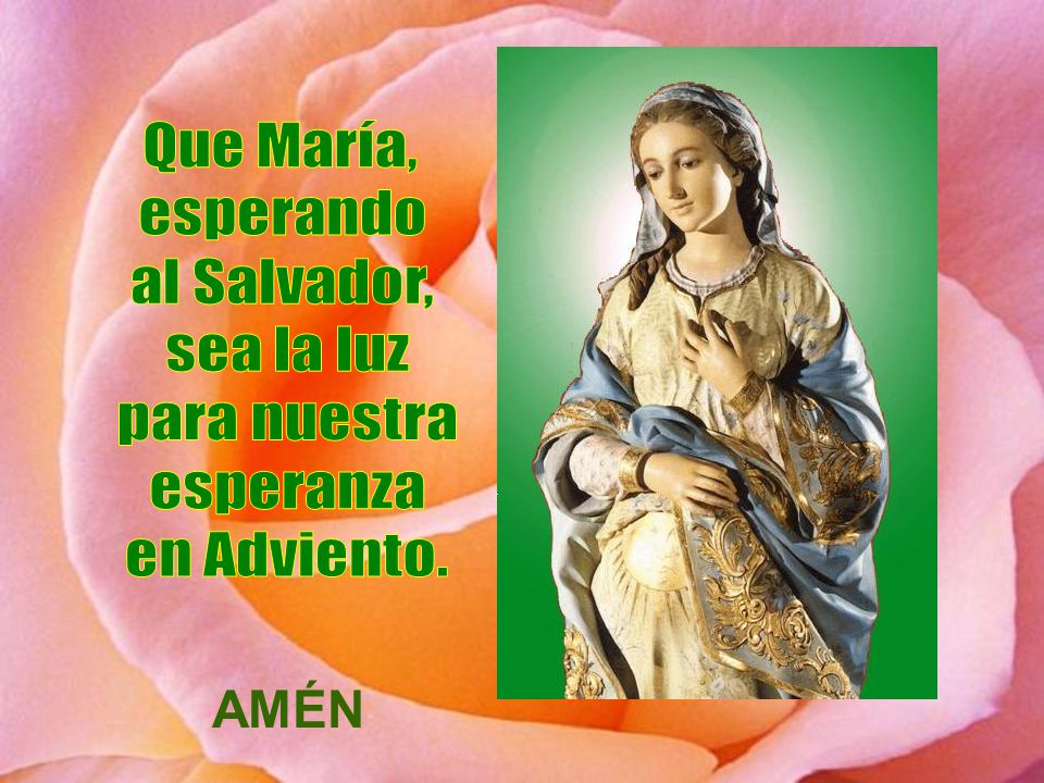 Que María, esperando al Salvador, sea la luz para nuestra esperanza en Adviento. AMÉN