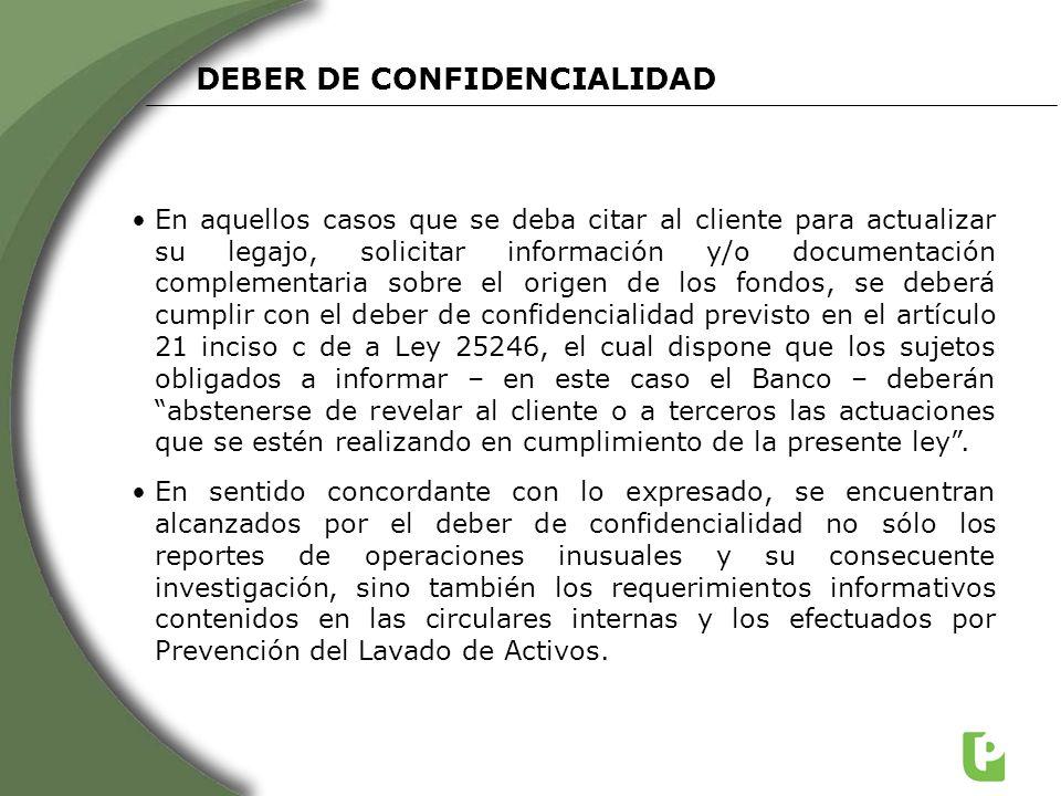 DEBER DE CONFIDENCIALIDAD