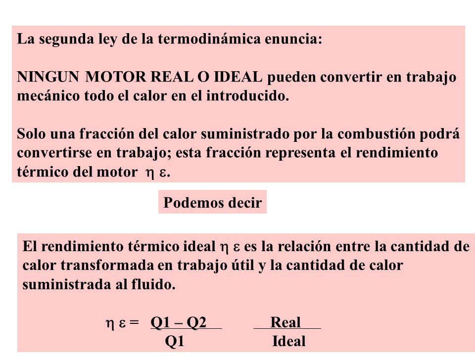 La segunda ley de la termodinámica enuncia: