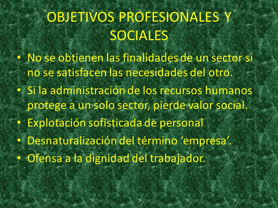 OBJETIVOS PROFESIONALES Y SOCIALES