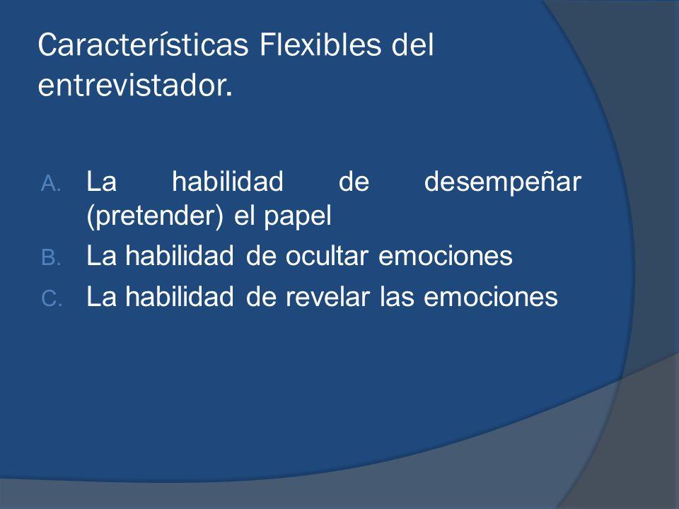 Características Flexibles del entrevistador.