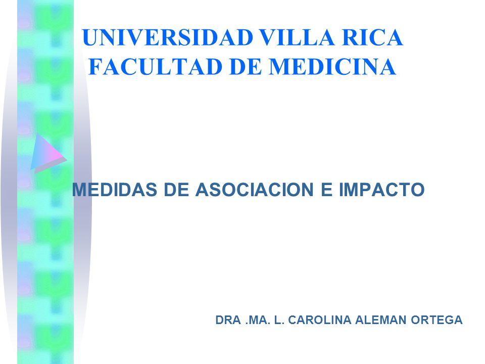 UNIVERSIDAD VILLA RICA FACULTAD DE MEDICINA