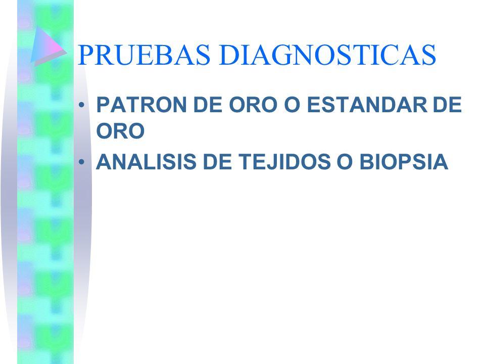PRUEBAS DIAGNOSTICAS PATRON DE ORO O ESTANDAR DE ORO