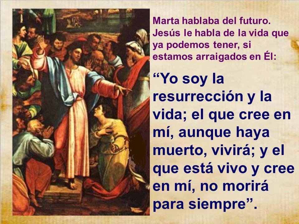 Marta hablaba del futuro