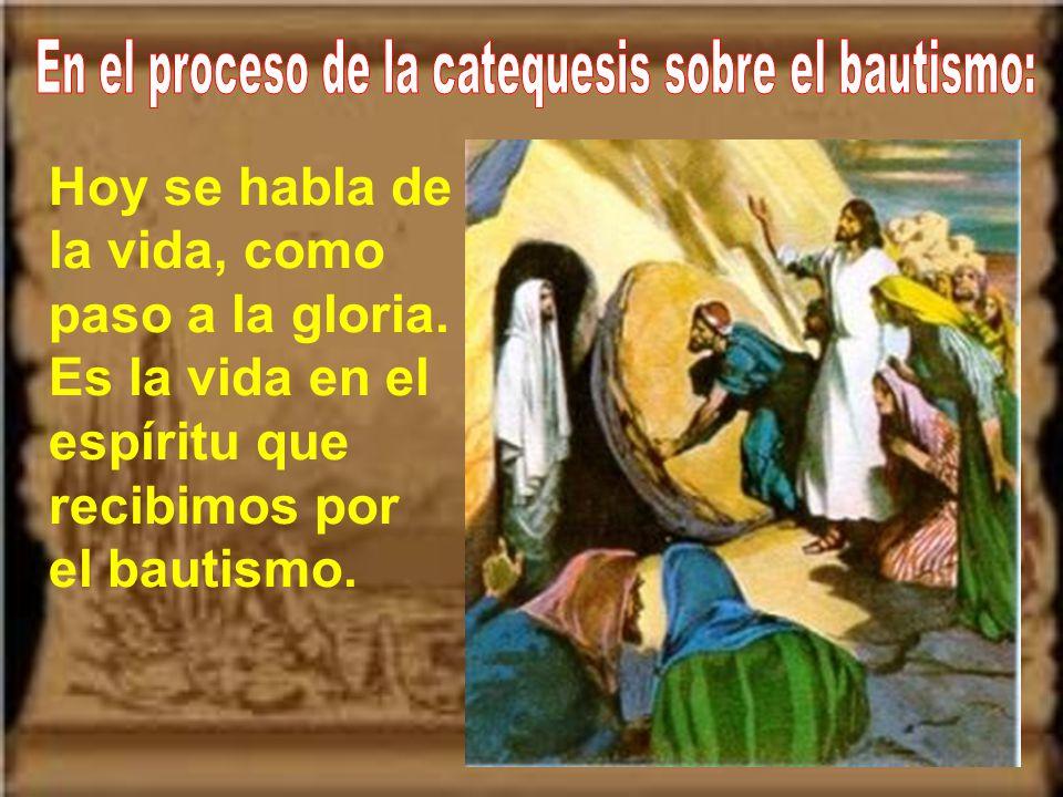 En el proceso de la catequesis sobre el bautismo: