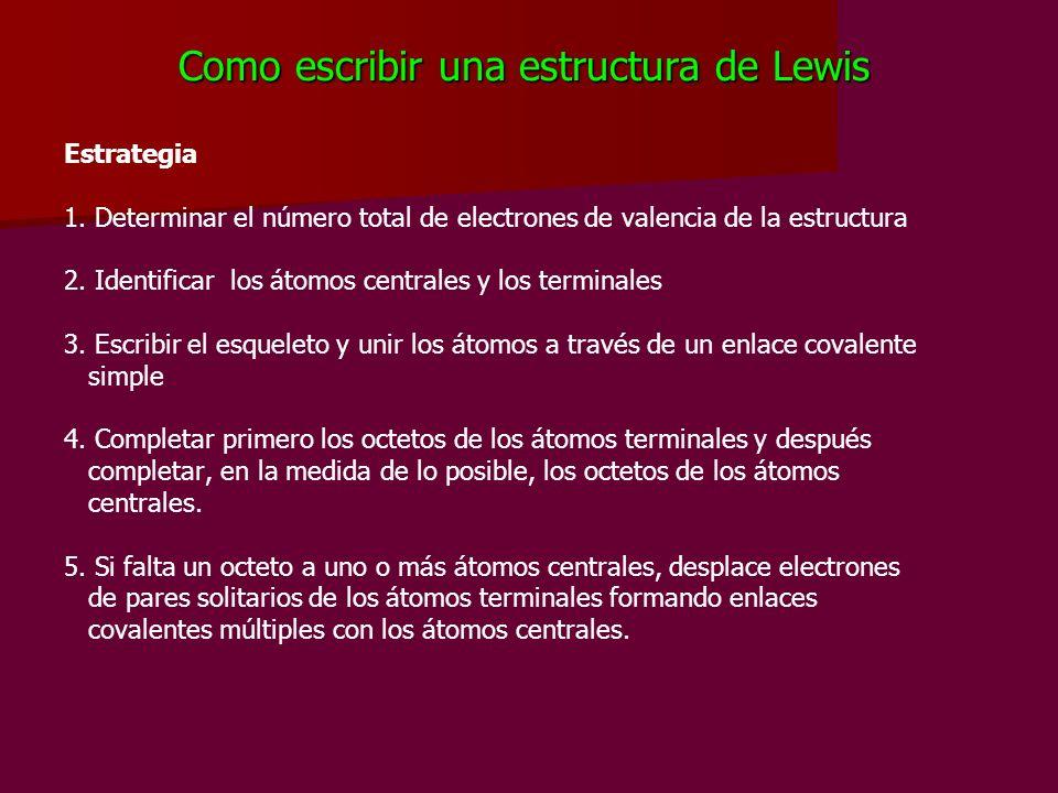 Como escribir una estructura de Lewis