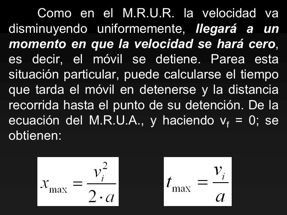 Como en el M.R.U.R.