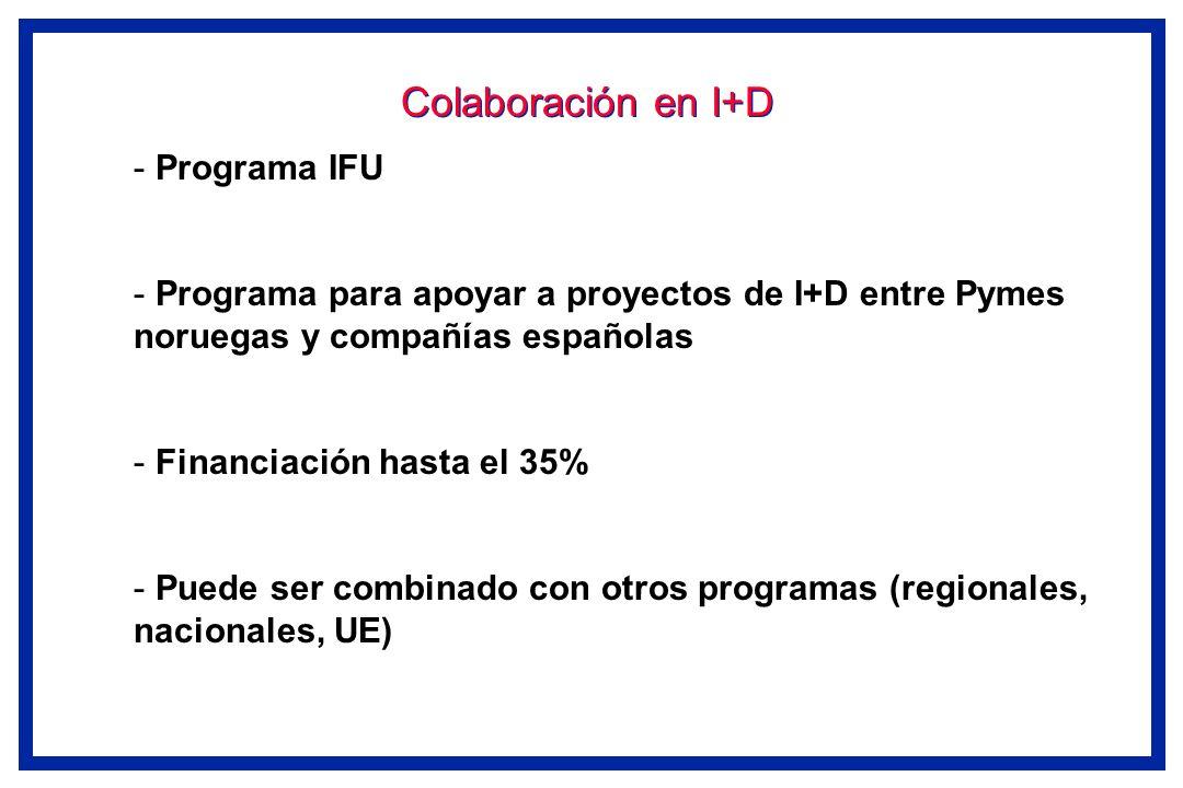 Colaboración en I+D Programa IFU