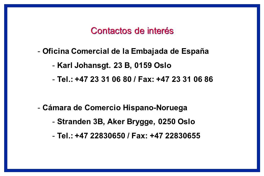 Contactos de interés Oficina Comercial de la Embajada de España