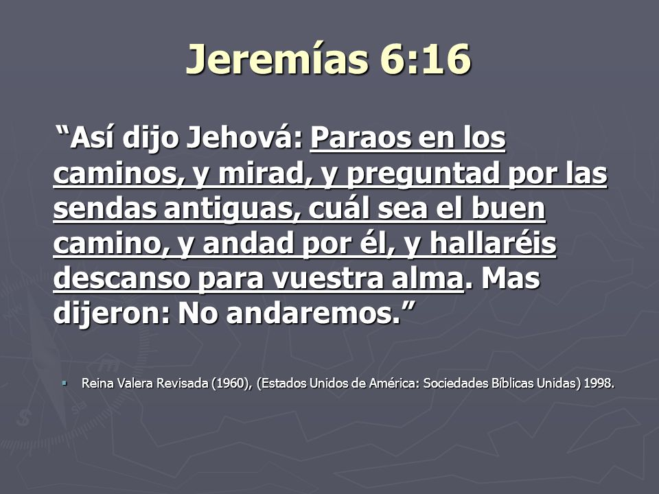 Jeremías 6:16