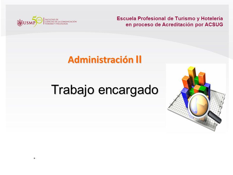 Trabajo encargado Administración II