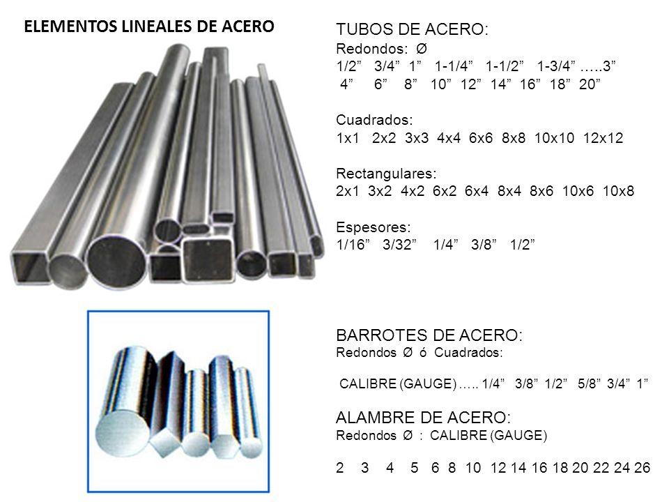 ELEMENTOS LINEALES DE ACERO