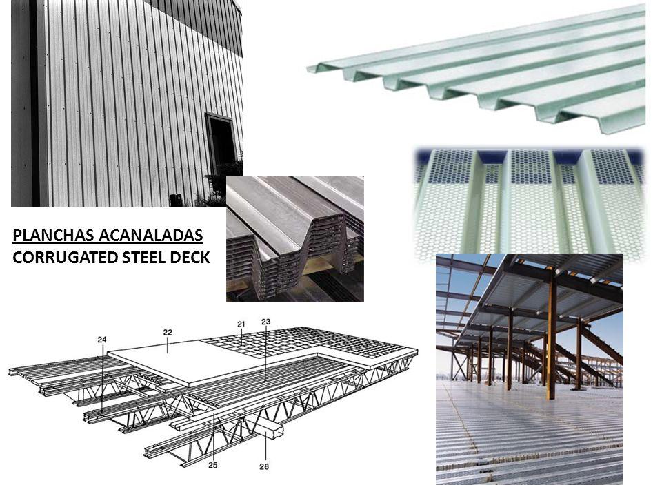 PLANCHAS ACANALADAS CORRUGATED STEEL DECK
